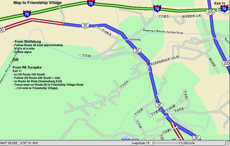 Penn Pike Day Itinerary - Us route 30 map